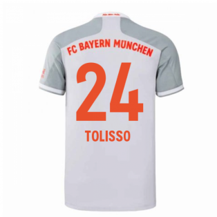 2020-2021 Bayern Munich Adidas Away Shirt (Kids) (TOLISSO 24)