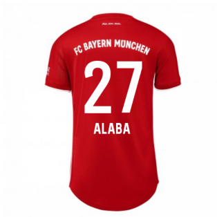 2020-2021 Bayern Munich Adidas Home Womens Shirt (ALABA 27)