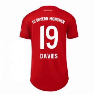 2020-2021 Bayern Munich Adidas Home Womens Shirt (DAVIES 19)