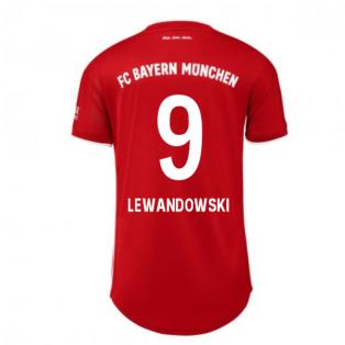 2020-2021 Bayern Munich Adidas Home Womens Shirt (LEWANDOWSKI 9)
