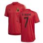 2020-2021 Belgium Adidas Training Shirt (Red) (DE BRUYNE 7)