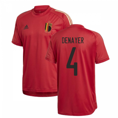 2020-2021 Belgium Adidas Training Shirt (Red) (DENAYER 4)