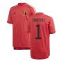 2020-2021 Belgium Adidas Training Shirt (Red) - Kids (COURTOIS 1)