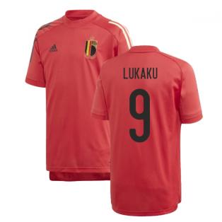2020-2021 Belgium Adidas Training Shirt (Red) - Kids (LUKAKU 9)