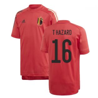 2020-2021 Belgium Adidas Training Shirt (Red) - Kids (T HAZARD 16)