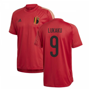 2020-2021 Belgium Adidas Training Shirt (Red) (LUKAKU 9)