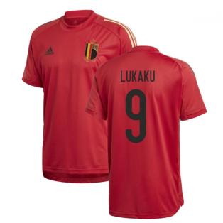 2020-2021 Belgium Adidas Training Shirt (Red) (LUKAKU 9)
