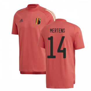 2020-2021 Belgium Adidas Training Tee (Red) (MERTENS 14)