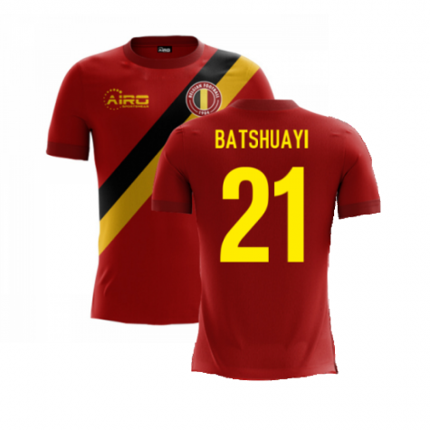 2020-2021 Belgium Airo Concept Home Shirt (Batshuayi 21) - Kids