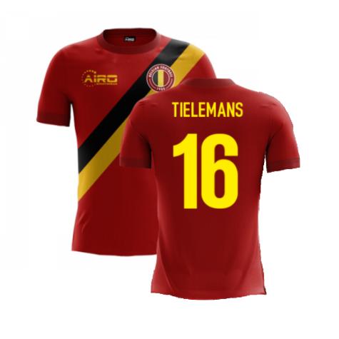 2020-2021 Belgium Airo Concept Home Shirt (Tielemans 16)