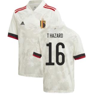 2020-2021 Belgium Away Shirt (Kids) (T HAZARD 16)