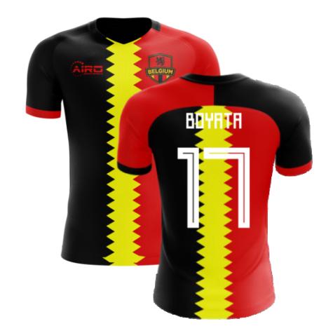 2020-2021 Belgium Flag Concept Football Shirt (Boyata 17)