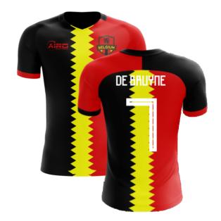2020-2021 Belgium Flag Concept Football Shirt (De Bruyne 7) - Kids