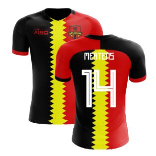 2020-2021 Belgium Flag Concept Football Shirt (Mertens 14) - Kids