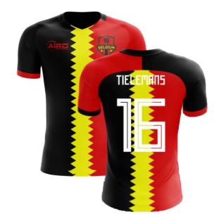 2020-2021 Belgium Flag Concept Football Shirt (Tielemans 16) - Kids