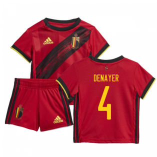 2020-2021 Belgium Home Adidas Baby Kit (DENAYER 4)