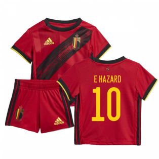 2020-2021 Belgium Home Adidas Baby Kit (E HAZARD 10)
