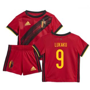 2020-2021 Belgium Home Adidas Baby Kit (LUKAKU 9)
