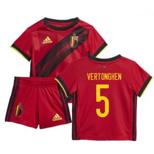2020-2021 Belgium Home Adidas Baby Kit (VERTONGHEN 5)
