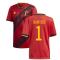 2020-2021 Belgium Home Adidas Football Shirt (COURTOIS 1)