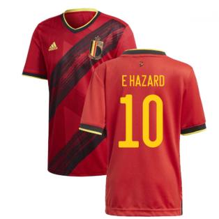 2020-2021 Belgium Home Adidas Football Shirt (E HAZARD 10)