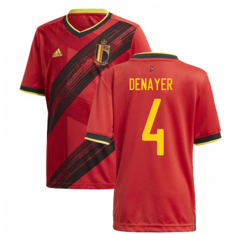 2020-2021 Belgium Home Adidas Football Shirt (Kids) (DENAYER 4)