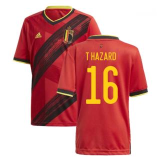 2020-2021 Belgium Home Adidas Football Shirt (Kids) (T HAZARD 16)