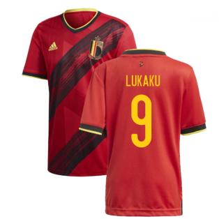 2020-2021 Belgium Home Adidas Football Shirt (LUKAKU 9)