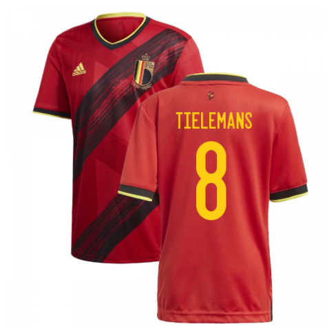 2020-2021 Belgium Home Adidas Football Shirt (TIELEMANS 8)