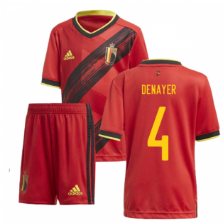 2020-2021 Belgium Home Adidas Mini Kit (DENAYER 4)
