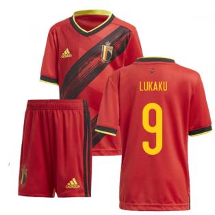 2020-2021 Belgium Home Adidas Mini Kit (LUKAKU 9)