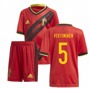 2020-2021 Belgium Home Adidas Mini Kit (VERTONGHEN 5)