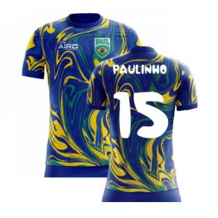 2020-2021 Brazil Away Concept Shirt (Paulinho 15) - Kids