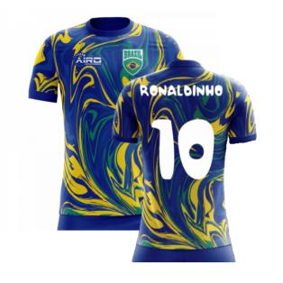 2020-2021 Brazil Away Concept Shirt (Ronaldinho 10)