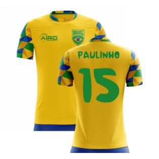 2020-2021 Brazil Home Concept Football Shirt (Paulinho 15) - Kids