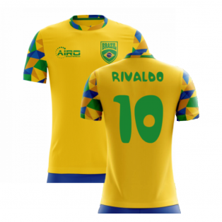 2020-2021 Brazil Home Concept Football Shirt (Rivaldo 10) - Kids
