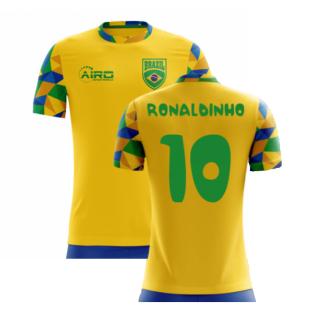 2020-2021 Brazil Home Concept Football Shirt (Ronaldinho 10)
