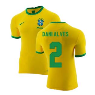 2020-2021 Brazil Home Shirt (DANI ALVES 2)