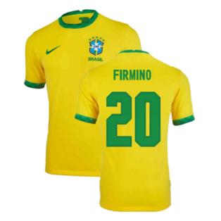 2020-2021 Brazil Home Shirt (Kids) (FIRMINO 20)