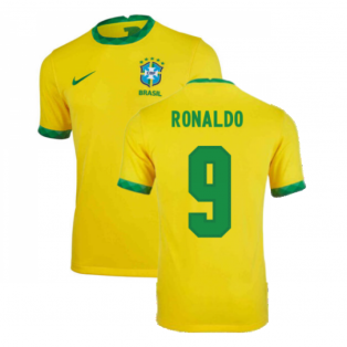 2020-2021 Brazil Home Shirt (Kids) (RONALDO 9)