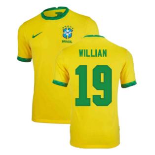 2020-2021 Brazil Home Shirt (Kids) (WILLIAN 19)