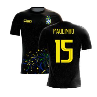 2020-2021 Brazil Third Concept Football Shirt (Paulinho 15)