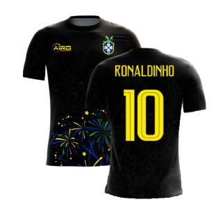 2020-2021 Brazil Third Concept Football Shirt (Ronaldinho 10)