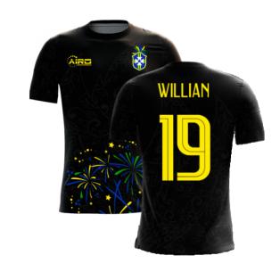 2020-2021 Brazil Third Concept Football Shirt (Willian 19)