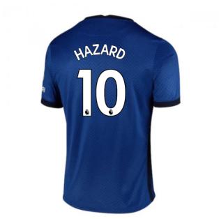2020-2021 Chelsea Home Nike Football Shirt (Kids) (HAZARD 10)