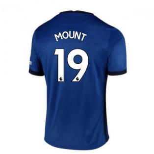 2020-2021 Chelsea Home Nike Football Shirt (Kids) (MOUNT 19)