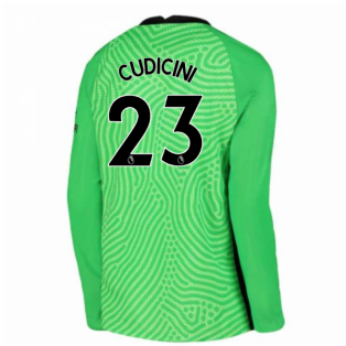 2020-2021 Chelsea Home Nike Goalkeeper Shirt (Green) - Kids (CUDICINI 23)
