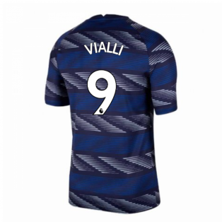 2020-2021 Chelsea Nike Pre-Match Training Shirt (Blue) - Kids (VIALLI 9)