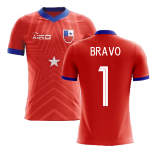 2020-2021 Chile Home Concept Football Shirt (Bravo 1) - Kids