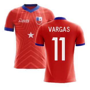 2020-2021 Chile Home Concept Football Shirt (Vargas 11) - Kids